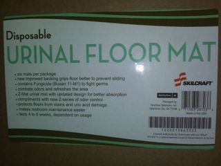 Disposable Urinal Floor Mat 6 Per Box