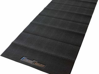 Fitness Reality Water Resistant PVC Exercise Equipment Mat  Black