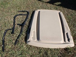 58 x 42   EZ Go Golf Cart Tops   with Some Mounting brackets   not complete