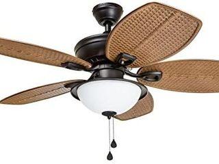 Harbor Breeze Cedar Shoals 44 in Bronze led Indoor outdoor Ceiling Fan