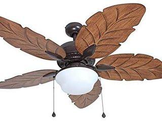 Harbor Breeze Waveport 52 in Bronze led Indoor outdoor Ceiling Fan W light Kit