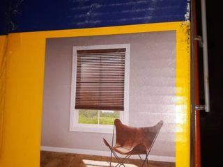 levolor 2 in Cordless Walnut Room Darkening Faux Wood Blinds A 2 35x64