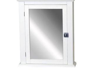 Zenith MC10WW White Medicine Cabinet With Decorative Pediment