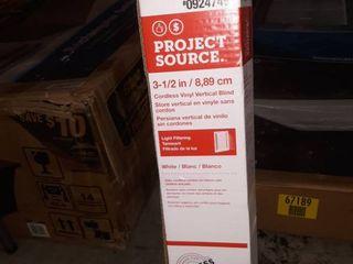 Project Source 94931 3 5 in Cordless White Vinyl Door Vertical Blinds