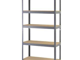 Muscle Rack Gray 5 Tier Boltless Steel Garage Storage Shelving  36 in  W x 72 in  H x 18 in  D