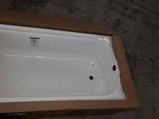 Briggs Pendant 30 in White Enameled Steel Rectangular Right hand Drain Bathtub
