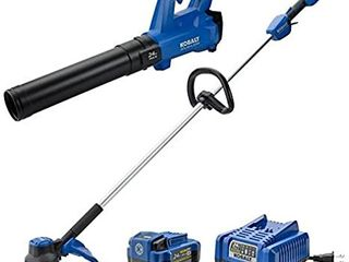 Kobalt 24v Max Brushless Cordless Blower   String Trimmer Combo Kit 856457 Read