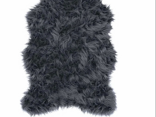 Style Selections Faux Fur Shaped Decorative Area Rug