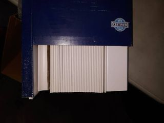 levolor Trim go 2 5 in Cordless White Faux Wood Room Darkening Blinds 35a X 72
