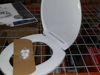 Aquasource White Round Slow Close Toilet Seat Hy pp05