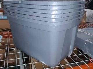 Bundle of 6 plastic storage bins
