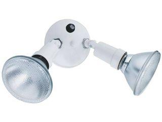 lithonia OFTH 300PR 120 P WH M12 2 light Dusk to Dawn Twin PAR Holder Security light Fixture  White