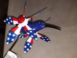 Patriotic hummingbird windmill