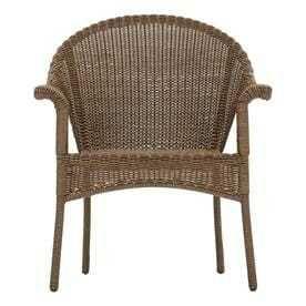 Garden Treasures Valleydale Stackable Steel Conversation Chair with Woven Seat