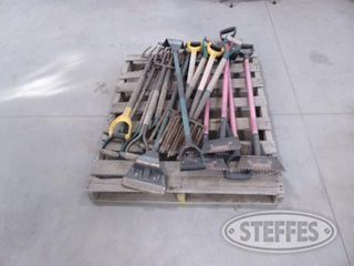 Pallet of asst hand tools to include 1 jpg