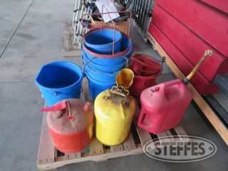Pallet of gas cans heated waterer 0 JPG