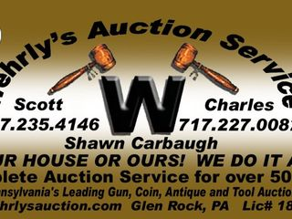 WEHRLY'S WEEKLY TUESDAY AUCTION
