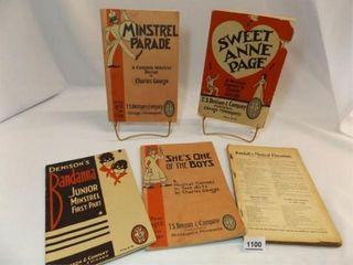 1899  1933  1950 s Musical  Minstrel Books  5
