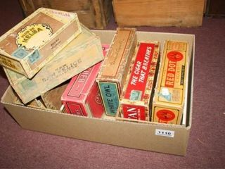 9 Cigar Boxes Various brands and condition