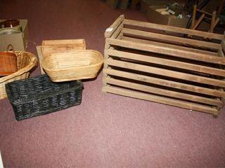 Wooden Crate  Owasso  MFG  Baskets Box