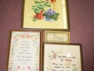 Framed Embroidered Pictures  4 total