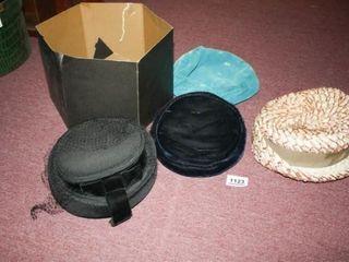 Vintage ladies Hats  4  Cardboard hatbox