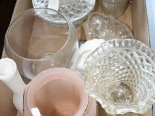 Glass Grouping  Candy dishes  oval bowl