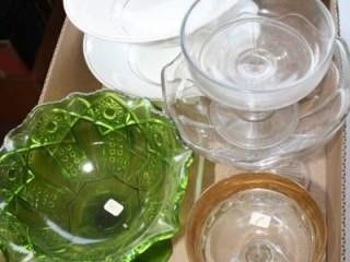 Various Glass and Ceramic Items  Fruit Bowls