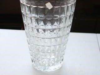 Tall Glass Vase 63 4  top diameter 10  tall