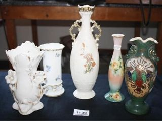 Ornate Vases  5  Floral w yellow rose