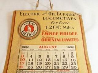 1930 Great Northern locomotive Calendar