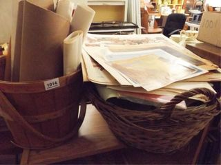 Prints  Calendars in a Basket  Bucket  A lot