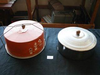 Metal Cake Carrier  Metal cake cover lid