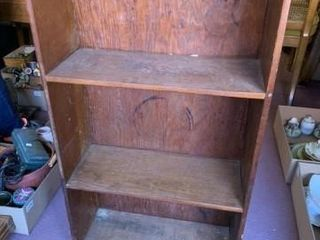 Small Wooden Bookshelf 3 openings