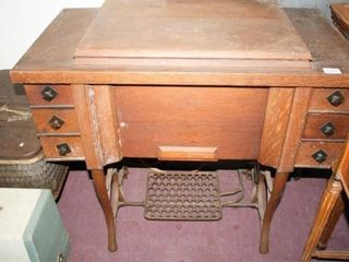Foot Pedal Sewing Machine in Cabinet Bruce
