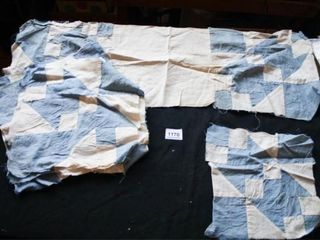 Blue and White Quilt Blocks  7 11  x 11