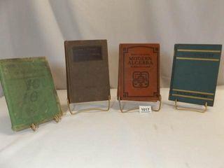 1919  1924  1929  1940 Math Textbooks  4