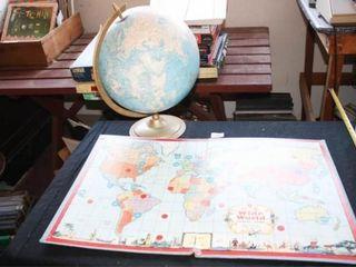 Globe on Stand   Wide World  Travel Board