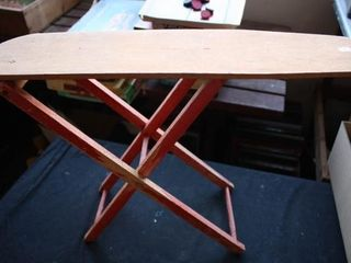 Wooden Play Ironing Board  legs Fold up