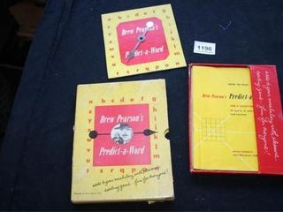 Predict A Word  Book 1949 Word Game