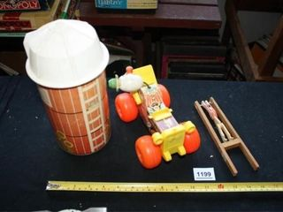 Fisher Price Barn Silo and Jalopy