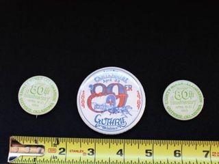 Guthrie  Oklahoma 89er Pins