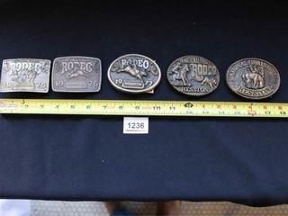 Heston NFR Belt Buckles