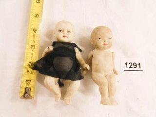 Bisque or Porcelain Dolls  Vintage