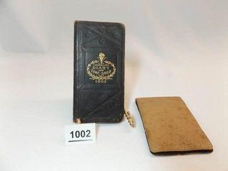 1903 Diary   Calendar  McAlester  OK Notebook  2