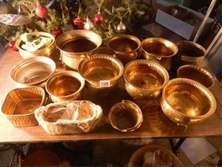 Brass like Pots   14  Assorted