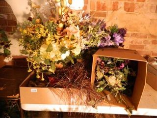 Silk Flowers  Greenery  Assorted