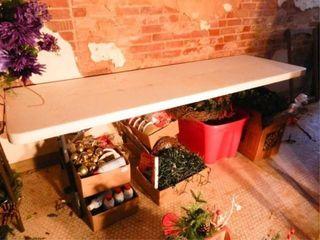 Table w Foldable legs  8 ft  length