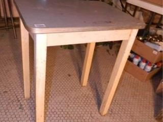 Formica Topped Wooden Table