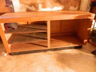 Wooden Counter w  Storage
